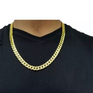 Other - Gold cuban Link chain necklace ice
